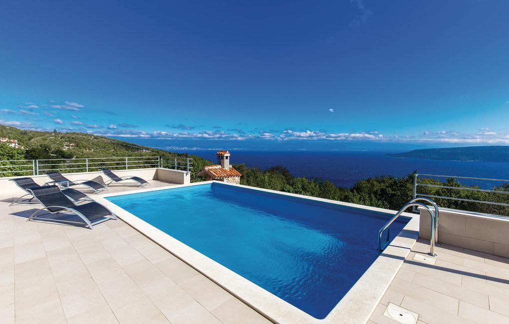 VillaBlu1 Doppelhaushälfte Seaview, Pool, Jac Ferienhaus in Kroatien