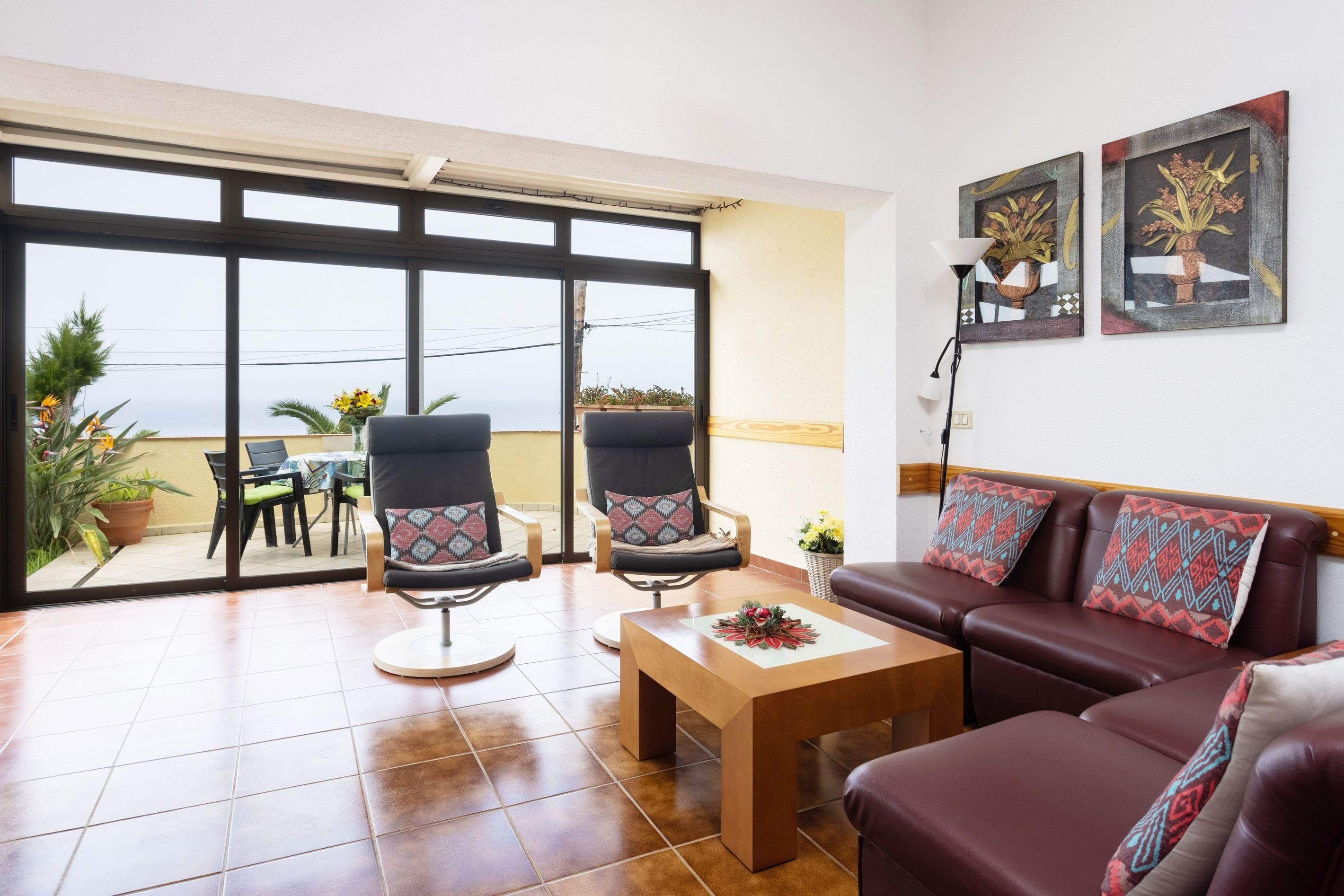 Appartement de vacances Fewo Solymar, mit 2 Schlafzimmern, 2 Bädern, eigener Terrasse und Garten, Meerblick, Pool, (2492986), Santa Ursula, Ténérife, Iles Canaries, Espagne, image 1