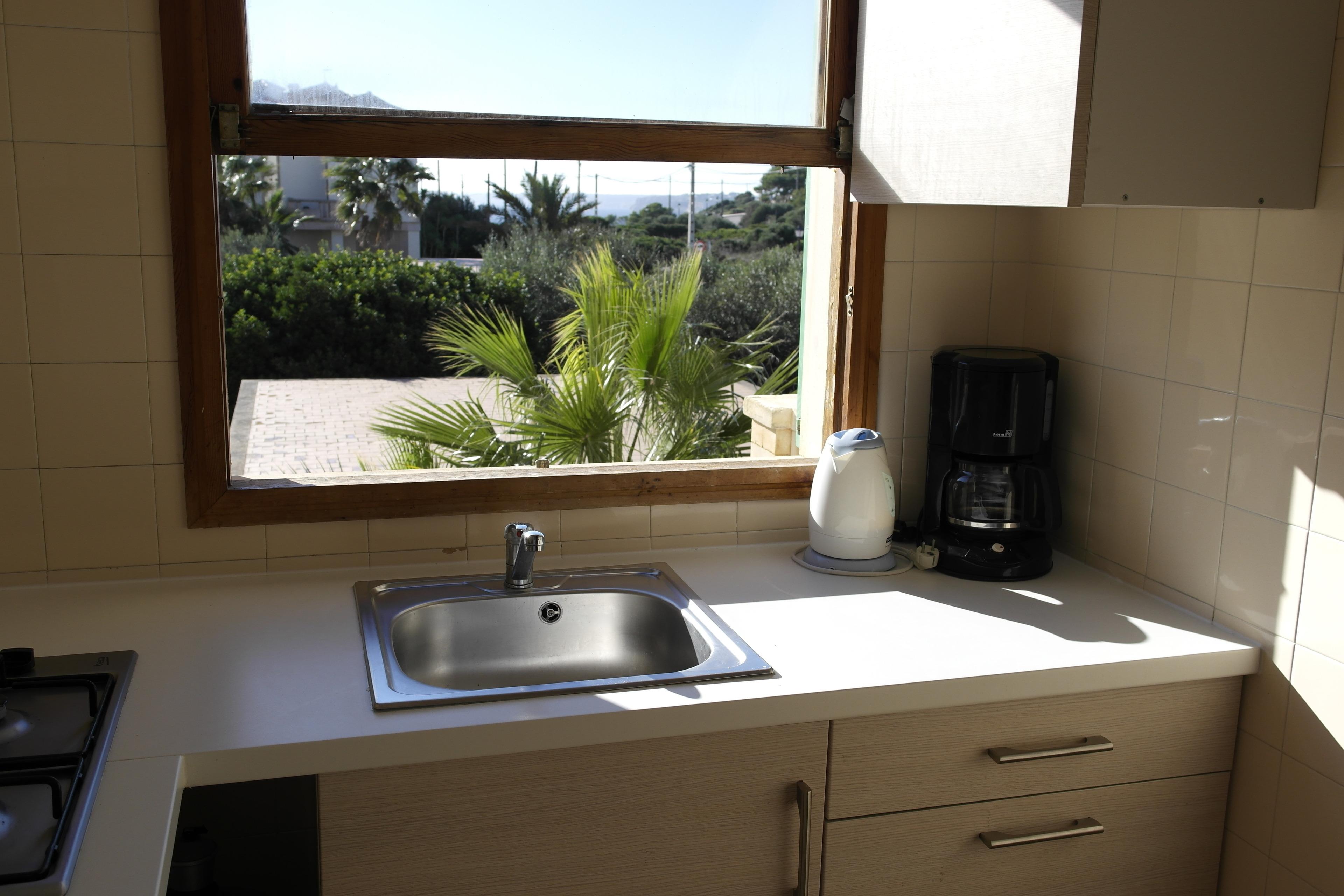 6 Personen Apartment für Familien mit Balkon Pool WLAN Küche 230m Meer